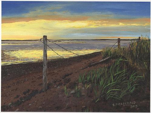 """Sid's Beach"" (2013) Original 11 X 16 acrylic on canvas Reilly Fitzgerald"