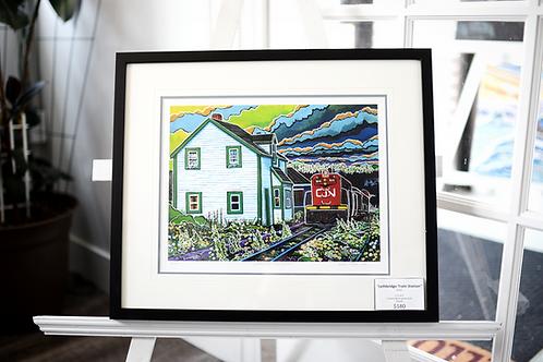 """Lethbridge Train Station"" (2017) Framed Print Reilly Fitzgerald Artist"