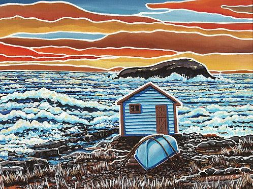 """Crashing (Waves)"" (2019) Giclee Prints: 16 X 20"""