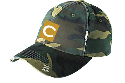 CWALL Distressed Camouflage Cap