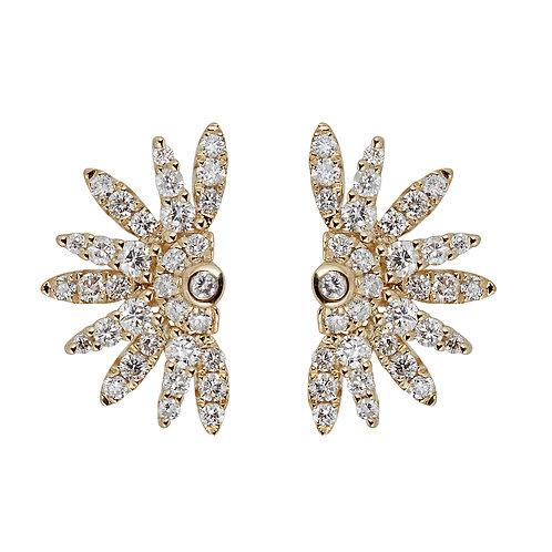 18KY ROUND DIAMOND EARRINGS