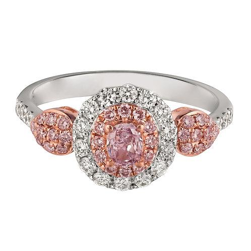 18KTT NATURAL PINK DIAMOND RING