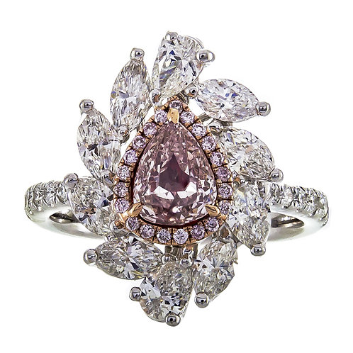 18K NATURAL PINK DIAMOND RING