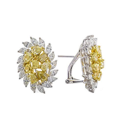 18KTT NATURAL YELLOW DIAMOND EARRING