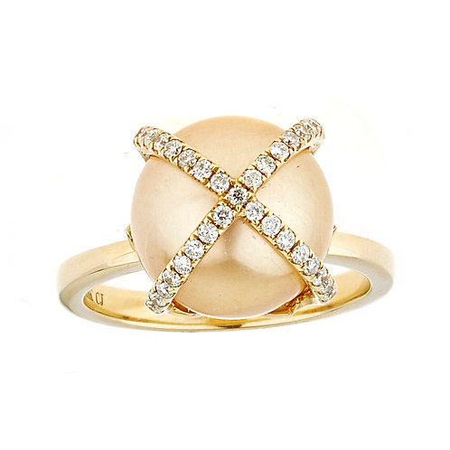 18KY PEARL RING