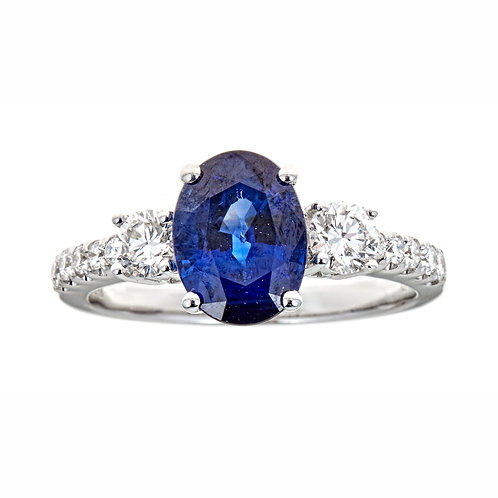 18KW BLUE SAPPHIRE RING
