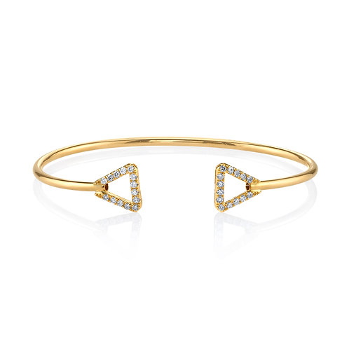 18KY ROUND DIAMOND BANGLE