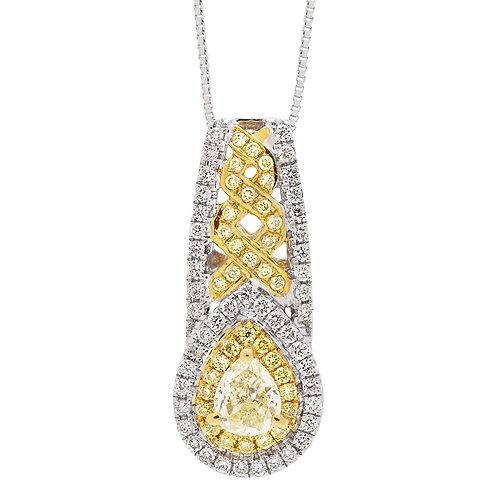 18KW NATURALD YELLOW DIAMOND PENDANT