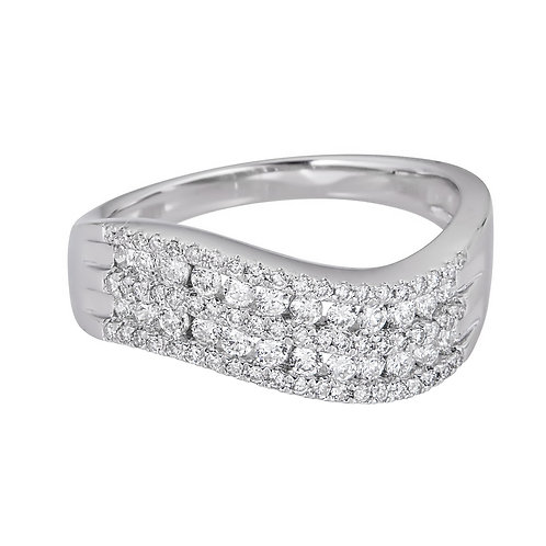 18KW ROUND DIAMOND RING