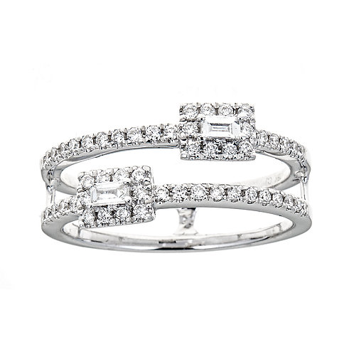 18KW BAGUETTE DIAMOND RING