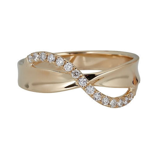 14KY ROUND DIAMOND RING