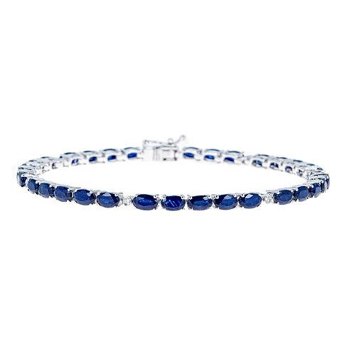 14KW BLUE SAPPHIRE BRACELET