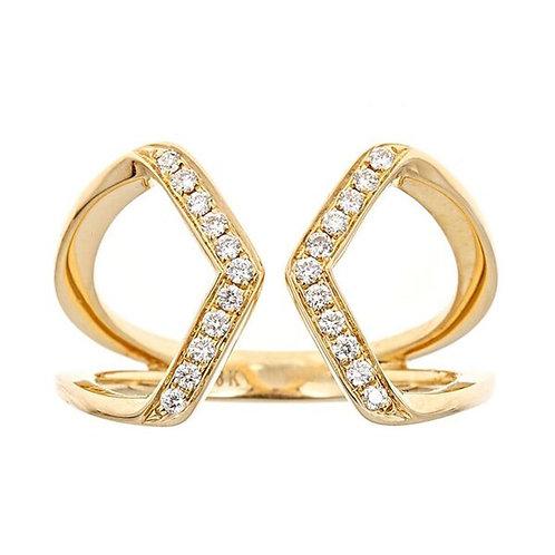 18KY DIAMOND RING