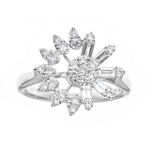18KW BAGUETTE DIAMOND RING