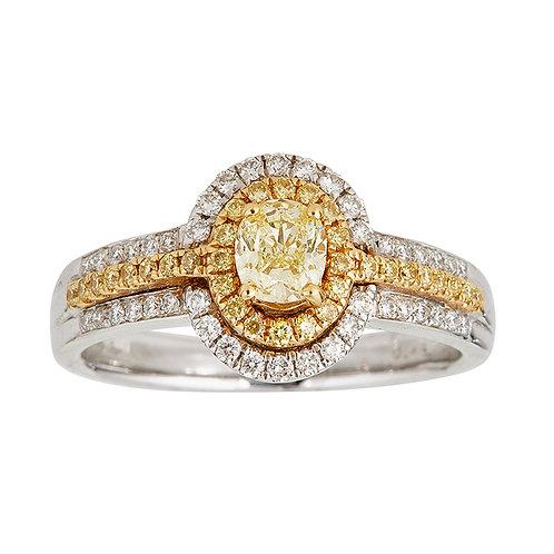 18KTT GOLD NATURAL YELLOW DIAMOND RING