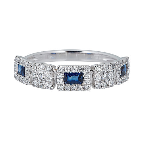 14KW BLUE SAPPHIRE RING