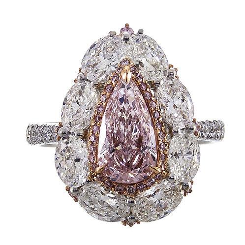 18K NATURAL PINK DIAMOND RING