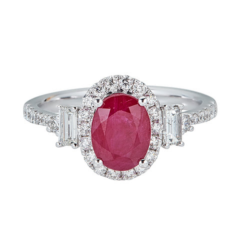 18KW RUBY RING