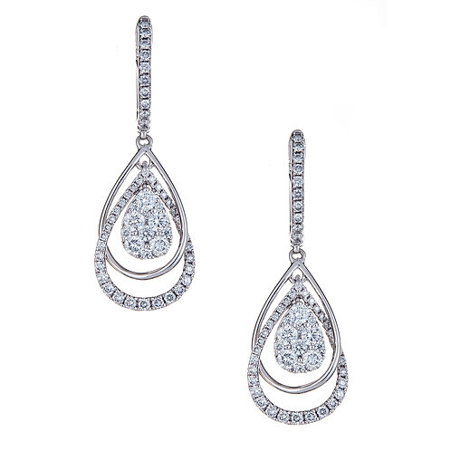 18KW ROUND DIAMOND EARRING