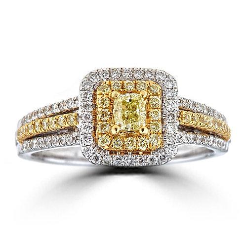 18KTT NATURAL YELLOW DIAMOND RING