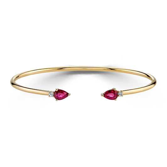 18KY RUBY BANGLE