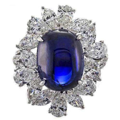 18KW BLUE SAPPHIRE RING