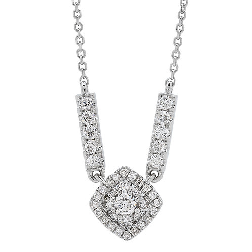 18KW ROUND DIAMOND NECKLACE