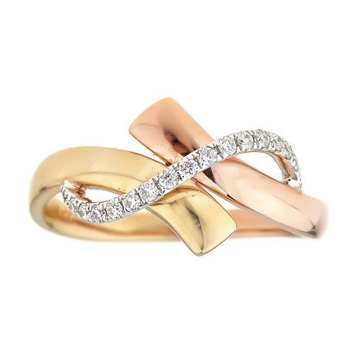 18KTT ROUND DIAMOND RING