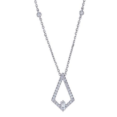 18KW BAGUETTE DIAMOND NECKLACE