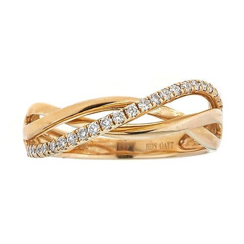 10K YELLOW GOLD ROUND DIAMOND RING