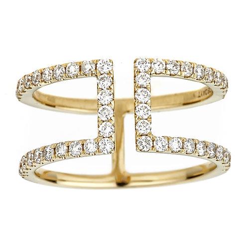 18KY ROUND DIAMOND RING