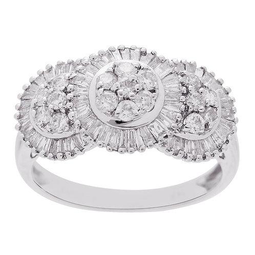 14KW Baguette Diamond Ring