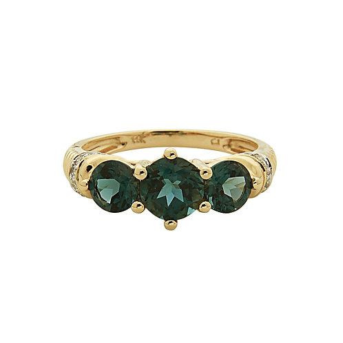 14KY London Blue Topaz and Diamond Ring