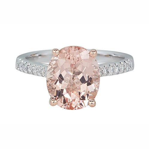 14KTT MORGANITE RING