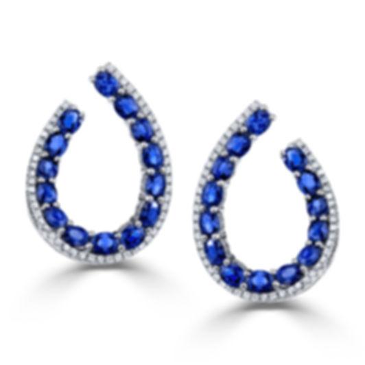 18KW BLUE SAPPHIRE EARRING