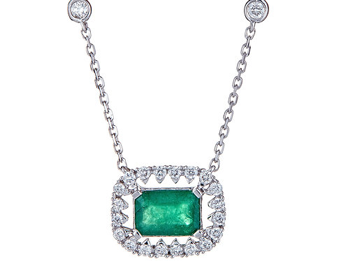 18KW EMERALD NECKLACE