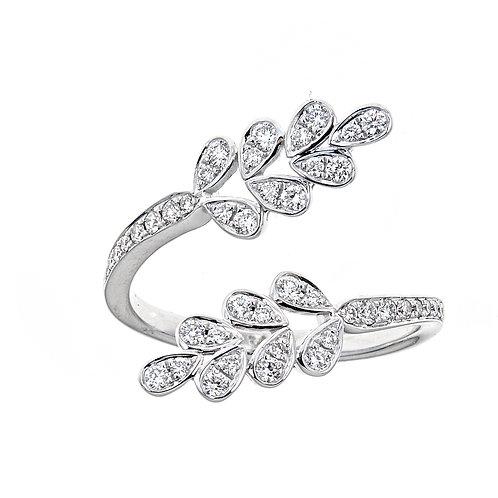18KW ROUND DIAMOND RING