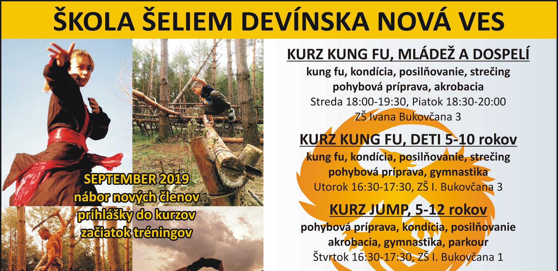 Kurzy Kung fu, Jump a Zlatý fénix v Devínskej Novej Vsi