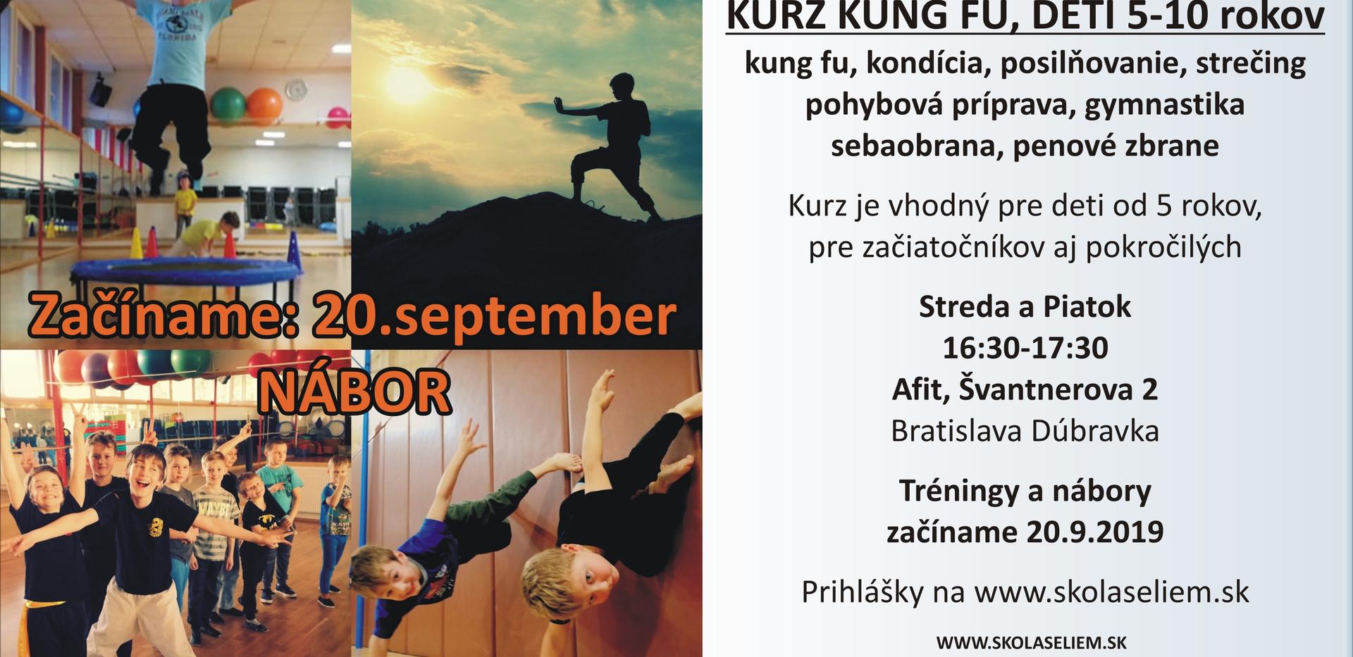 Kurzy Kung fu v Dúbravke pre deti