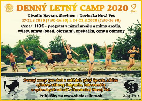 Denný letný camp pre deti a mládež