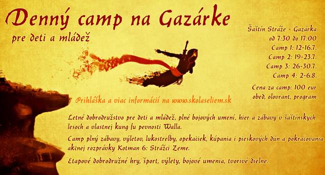 Denný camp na Gazárke