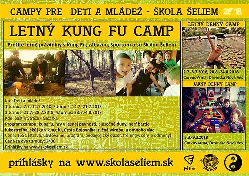 letný tábor 2018 gazárka, kung fu cam