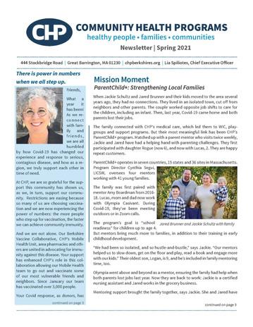 CHP Quarterly Newsletter