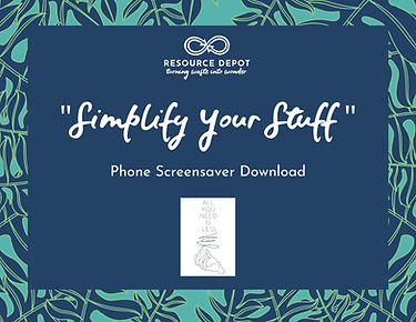 simplify your stuff phone screensaver do