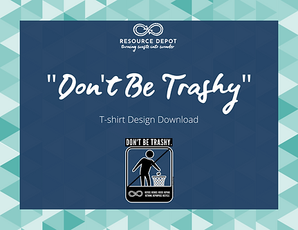 dont be trashy tshirt design cover.png