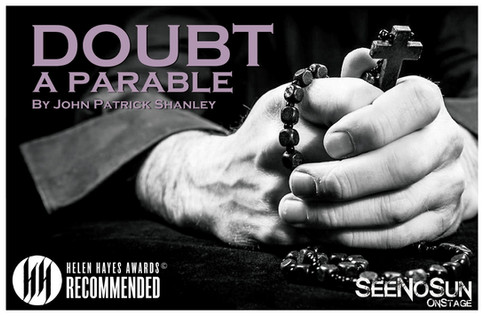 """SeeNoSun's """"Doubt, A Parable"""" receives Helen Hayes Awards Recommendation"""