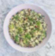 Σαλάτα Κουσκούς με Μαύρες Φακές και Πράσο