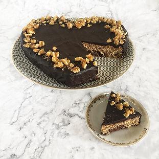 Κέικ Αμυγδάλου με Επικάλυψη Σοκολάτας