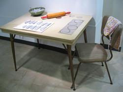 'Family Values' Installation, Aluminum Pierogies & Mixed Media, 2007.JPG