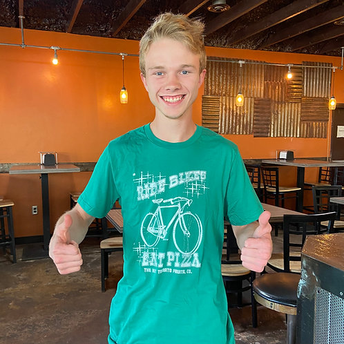 Ride Bike, Eat Pizza - Men's Kelley Green